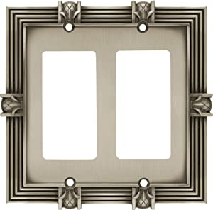 Franklin Brass 64459 Pineapple Double Decorator Wall Plate/Switch Plate/Cover, Brushed Satin Pewter