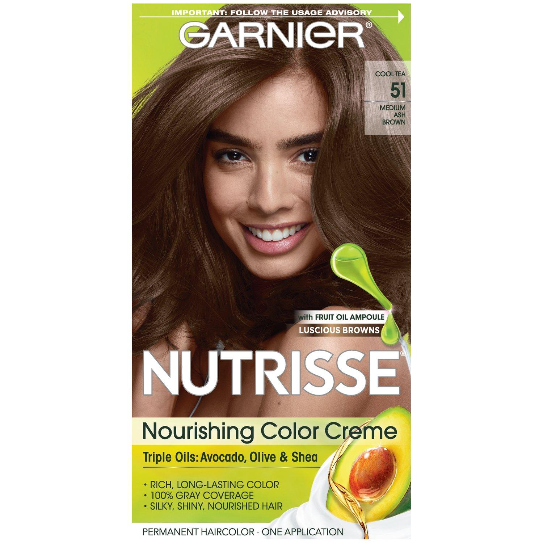 Garnier Nutrisse Hair Color  9 Cool Tea Medium Ash Brown ...