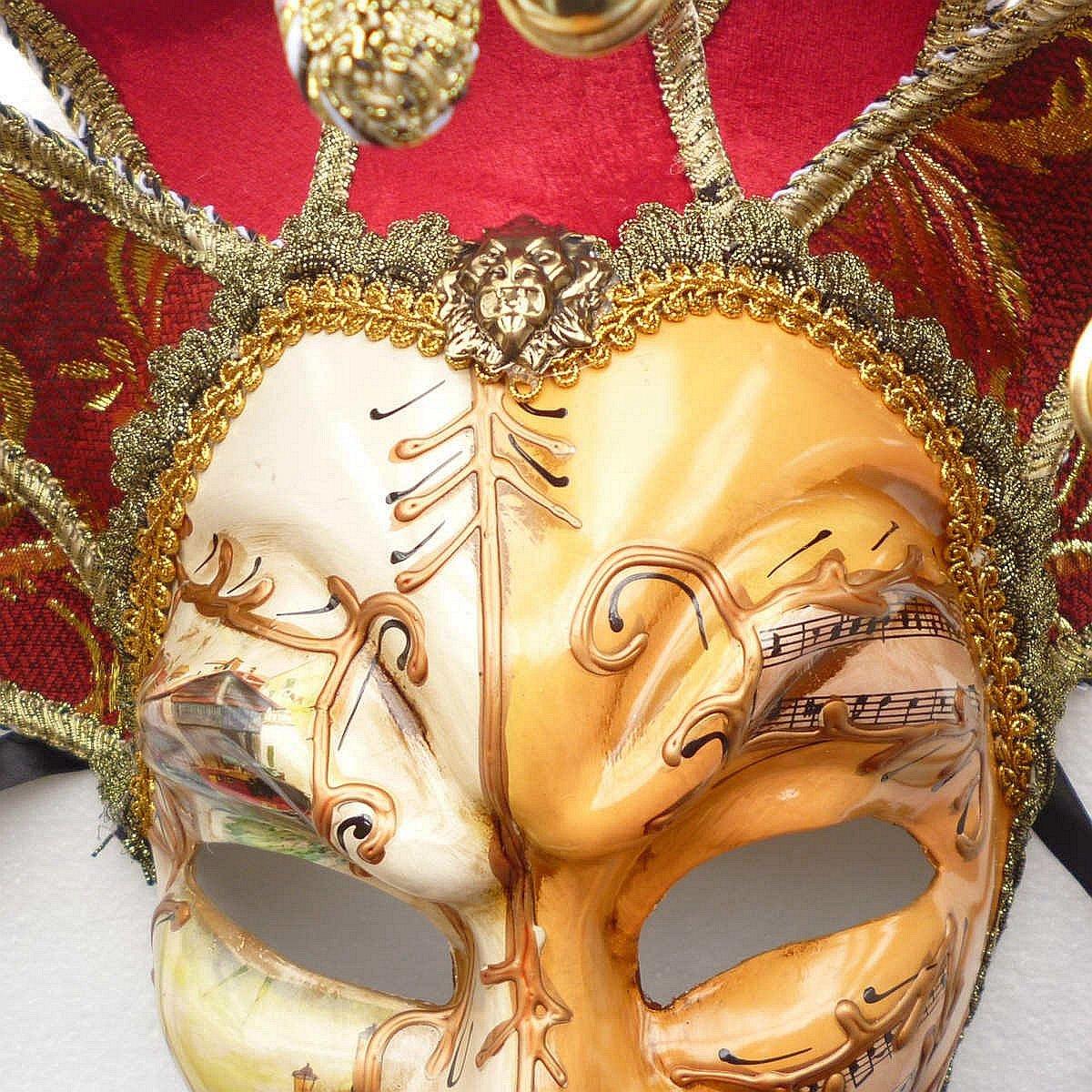 Amazon.com: ZjpMask Full Face Venetian Jester Mask Masquerade Mardi ...