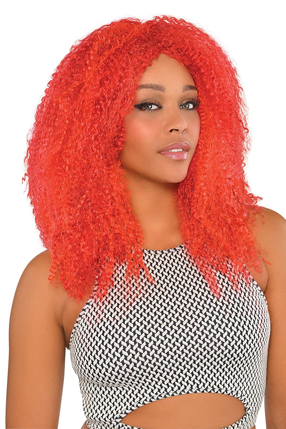 Amazon.com  Amscan Red Crimped Wig  Amscan  Clothing 544ceebf8d