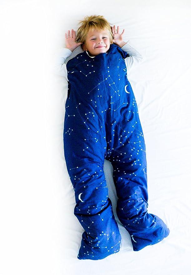 Norkid ORIGINAL. Sacos de dormir infantiles con piernas. Talla 3 años. Relleno FINO, Modelo ESTRELLAS.: Amazon.es: Hogar