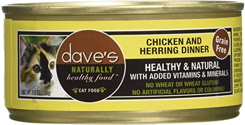 Dave S Pet Food Chicken And Herring Food 24 Cans Per Case , 5.5 Oz.