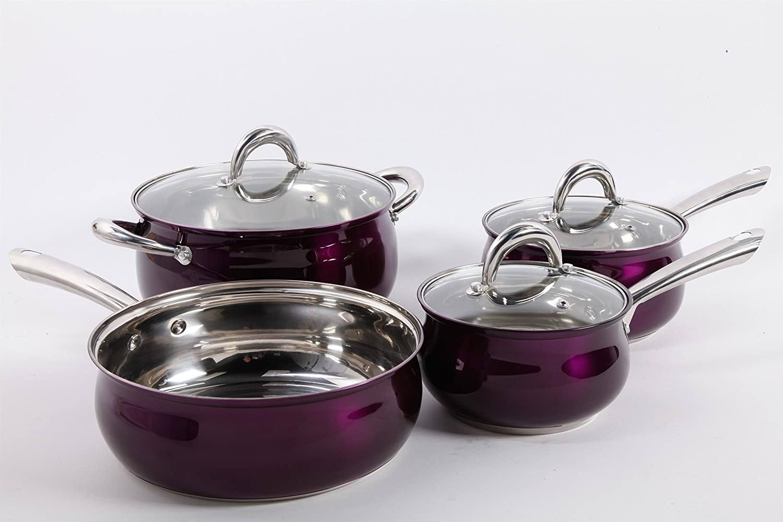 Amazon.com: Oster 7 Piece Verdone Cookware Set with Metallic ...