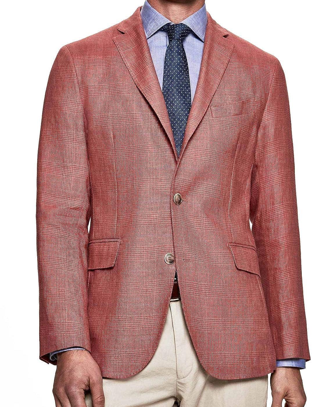 Americana Hackett Linen WL Pow Rojo Hombre 40 Rojo: Amazon ...