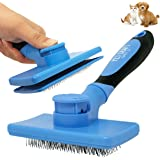 Pet Craft Supply Self Cleaning Grooming Slicker Pet Brush for Cats and Dogs Short Long Haired Fur Small Medium Large Metal Pi