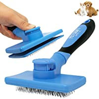 Pet Craft Supply Self Cleaning Grooming Slicker Pet Brush for Cats and Dogs Short Long Haired Fur Small Medium Large…