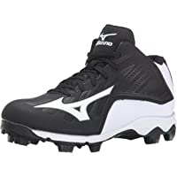 Mizuno Youth Mid Cut 9-Spike Advanced Franchise 8 Molded Baseball Cleat - Black & White