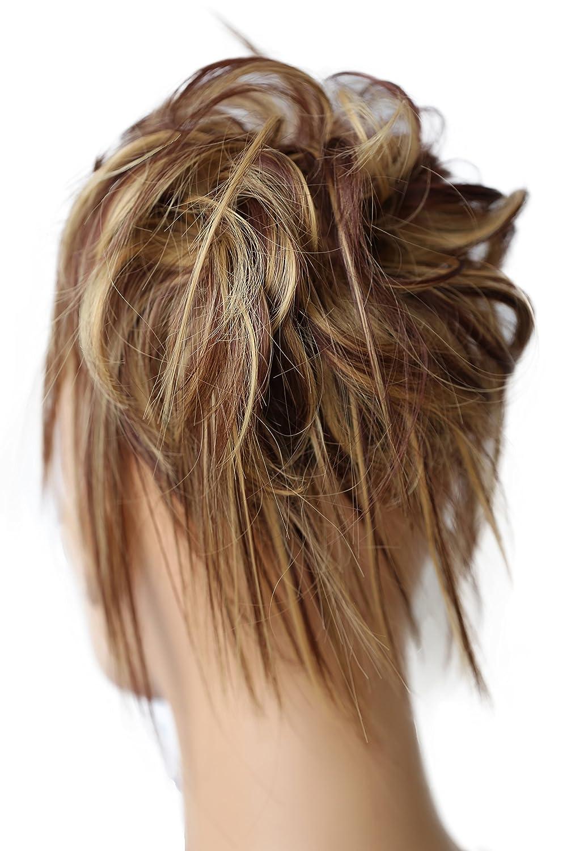 PRETTYSHOP XXL Postiche Cheveux En Caoutchouc Chouchou Chignons VOLUMINEUX Bouclés Ou Chignon Décoiffé noir # 1 G1F