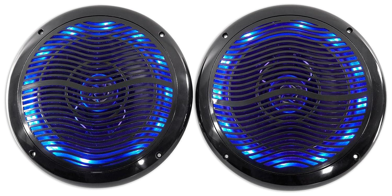 Rockville 2 6.5 600w ATV//UTV//RZR//CART//Polaris Speakers+Multi Color LED+Remote
