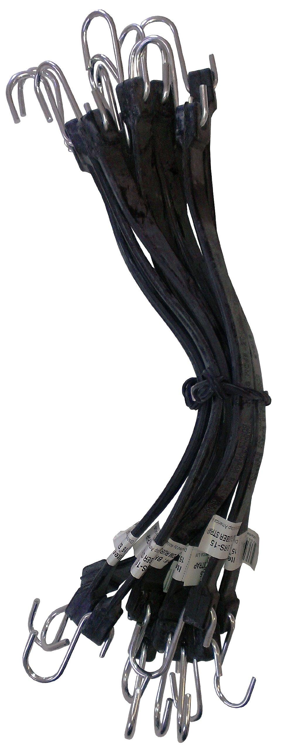Kotap MBRS-15 EPDM Rubber 15-Inch Strap, Black, 10-Piece