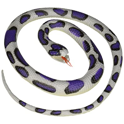 "Wild Republic Blue Rock Rubber Snake Toy, Gifts for Kids, Educational Toys, 46"": Toys & Games"