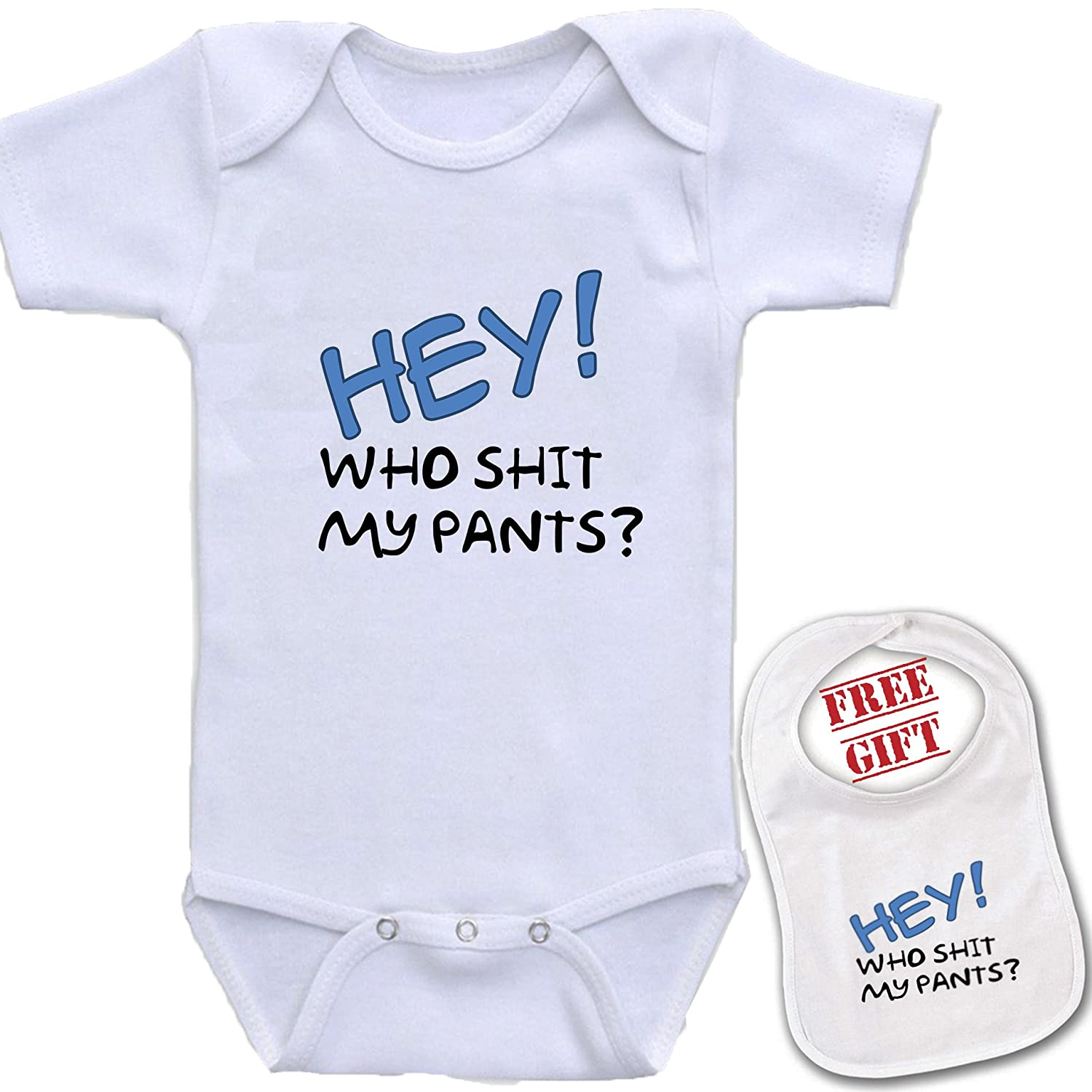 Amazon hey who shit my pants cute custom boutique baby amazon hey who shit my pants cute custom boutique baby bodysuit onesie matching bib clothing negle Gallery