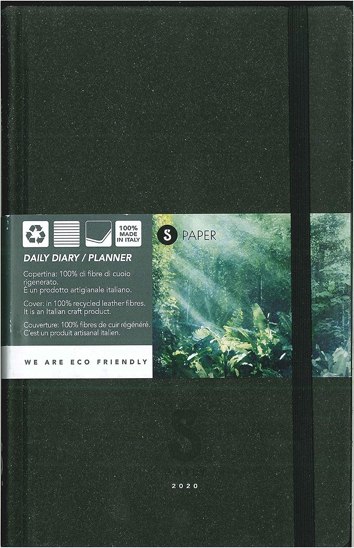 S Paper Agenda Giornaliera Annuale 12 Mesi 9x13 Centimetri Ecologica Smemoranda AGSM07 Brown