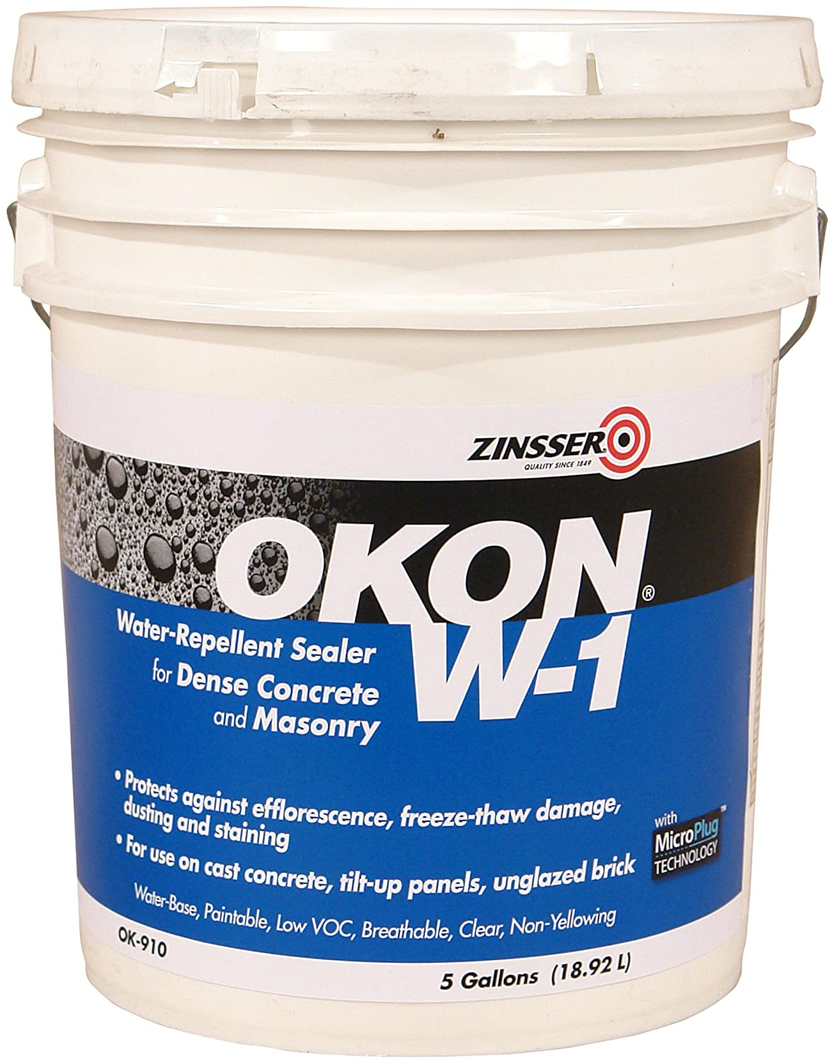 Okon OK910 W 1 Water Repellent Non Porous 5 Gallon Pail