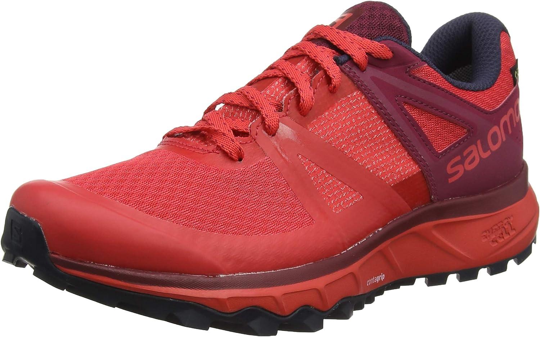 Salomon Trailster GTX, Zapatillas de Trail Running para Mujer, Rojo (Hibiscus/Beet Red/Graphite), 38 2/3 EU: Amazon.es: Zapatos y complementos