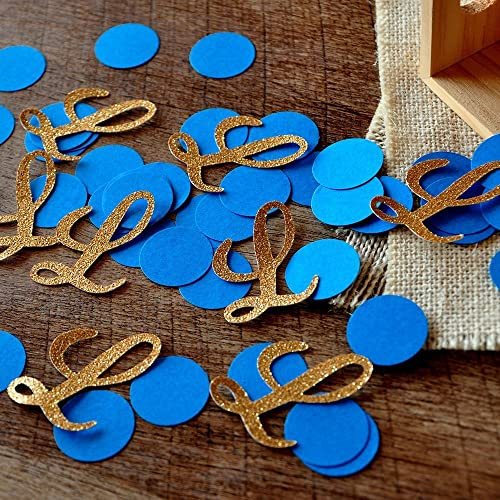 Royal Prince Baby Shower Decorations. Initial And Circle Confetti 2 Packs  (50CT Each)