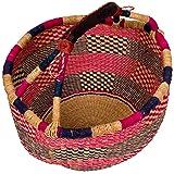 AFRICAN MARKET BASKET African Round Basket, 1 EA