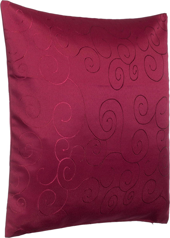 Brandsseller Coussin d/écoratif Brillant 50 x 50 cm 50x50 cm Bezug ca Bordeaux//Rot Polyester