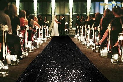 Aisle Runner For Wedding.Shinybeauty 4ftx30ft Wedding Aisle Runner Black Sequin Aisle Runner Fabric Glitter Carpet Aisle Runner 48x360 Inch Long