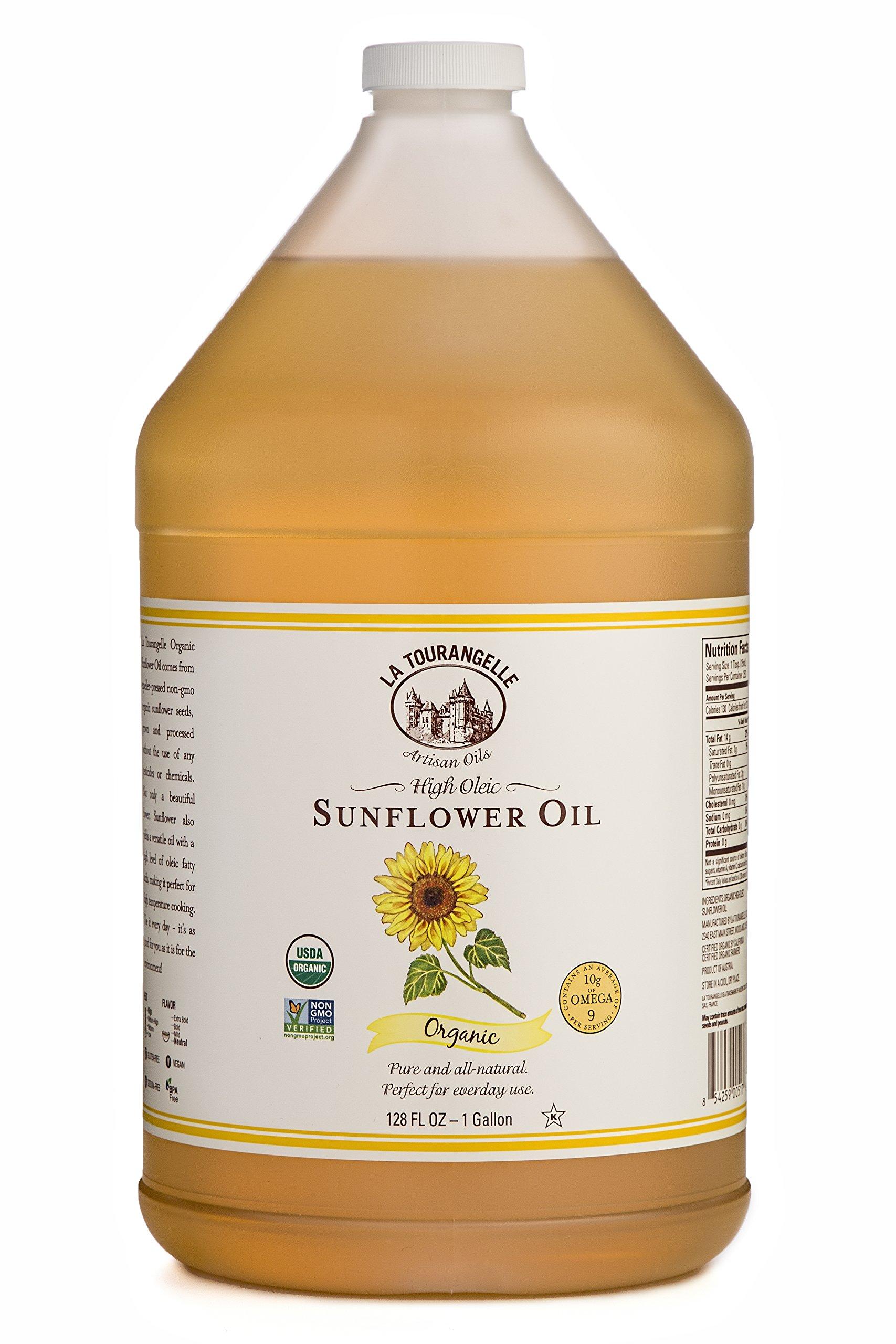 La Tourangelle, Organic Sunflower Oil, 128 Fluid Ounce by La Tourangelle