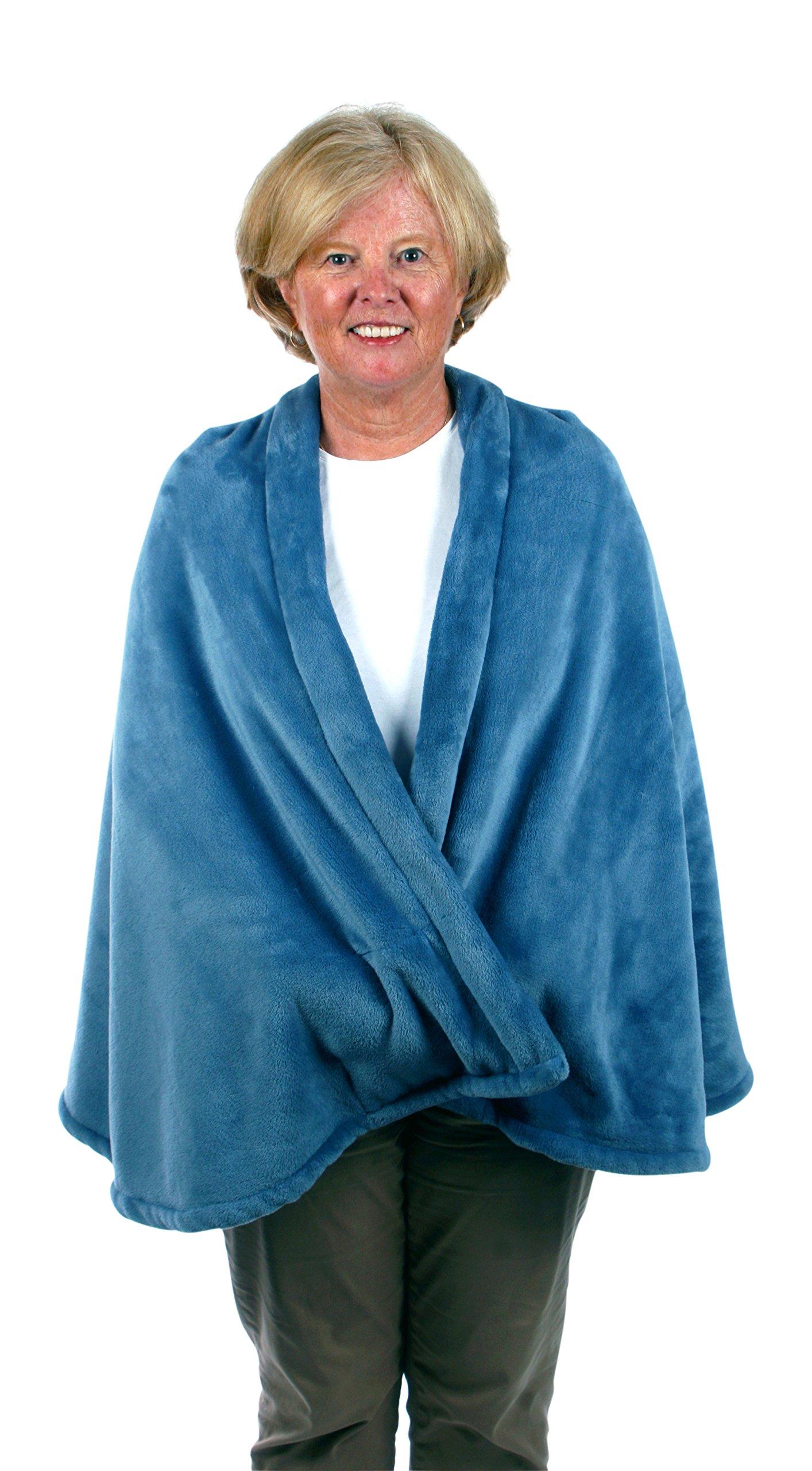 Granny Jo Products Unisex-Adults Fleece Cape-wedgwood Blue, Wedgewood Blue, Large/Extra Large