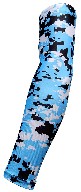 Sports Farm Light Blue Black Digital Camo Arm Sleeve YL