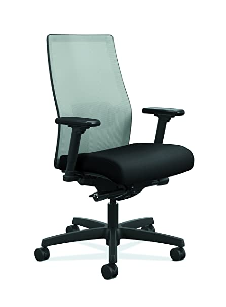 Awesome HON Ignition 2.0 Mid Back Adjustable Lumbar Work Chair   Fog Mesh Computer  Chair For