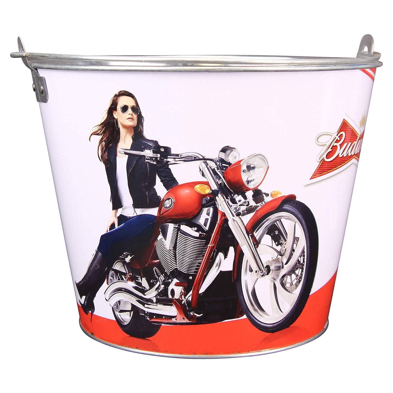 Beer Brand Full Color Aluminum Beer Bucket/ 3 Bud Lights