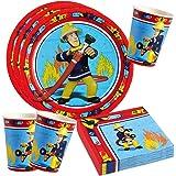 Feuerwehrmann Sam Set platos, vasos, servilletas para fiesta