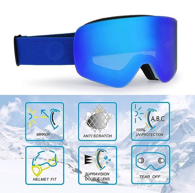 PP PICADOR Picador Gafas de esquí sin Marco con protección ...