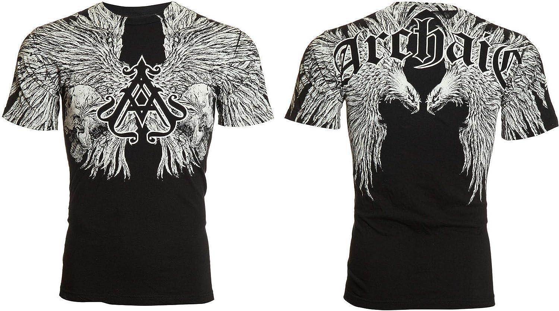 Archaic Affliction T-Shirt Hommes Artemis Lion skull tattoo biker Arts Martiaux Mixtes M-4XL $40