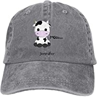 EJjheadband Baby Cawaii Cow Cartn Name Hat Snap-Back