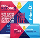 Real Ketones Lean for Life (Prime D+) Exogenous Keto BHB + MCT Drink Mix Powder Supplement- Caffeinated- 28 Packets…