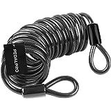 PedalPro Câble antivol à deux boucles flexible - Disponible en deux longueurs: 1.2m ou 4.5m