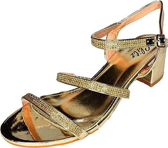 Glitz LONDON Womens Low Block Heel