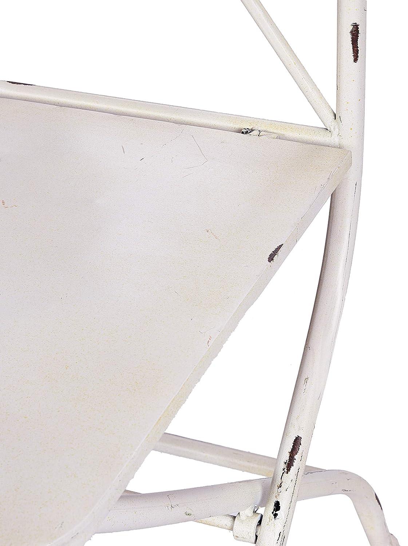 in Ferro Pieghevole Colore Bianco Sedia per Giardino con aspo nello Schienale Better /& Best 1401932