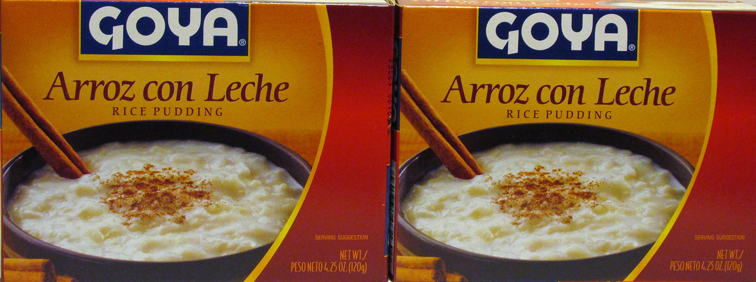 Goya Rice Pudding Arroz Con Leche 4.25 Oz (120g) Package (2 Pack)