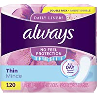 Deals on Always Thin Daily Liners Regular Absorbency 120 Count Wrapped