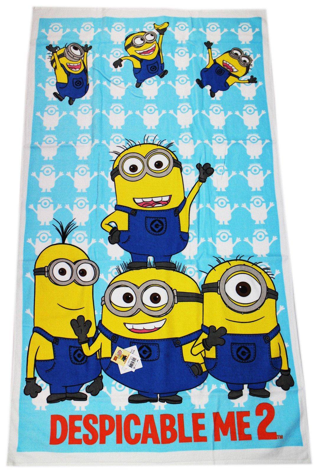 Blue Despicable Me Minion Beach and Bath Towel
