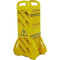 AmazonBasics Expandable Mobile Barricade System (Yellow)