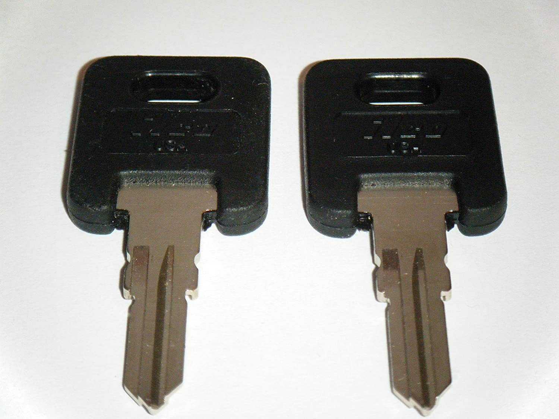 FIC RV Motorhome Trailer 2 Keys Cut to Lock/Key Number from CF326 to CF351-2 Working Keys Travel Trailer Motor Home Toy Hauler ILCO Keys (CF329)