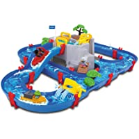 AquaPlay 8700001542 - Wasserbahn Set Bergsee, 42-teilig