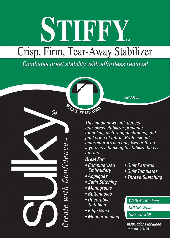 Sulky 216-01 Stiffy Tear, Away Stabilizer, 20 by 36 20 by 36 Notions