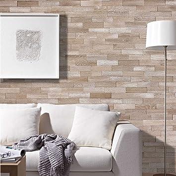 Wodewa Holz Wandverkleidung 3D Vintage Optik I Eichenholz Steinoptik I 1m²  Echtholz Wandpaneele V013 I