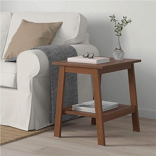 Ikea Asie Lunnarp Table D Appoint Marron Amazon Fr Jardin
