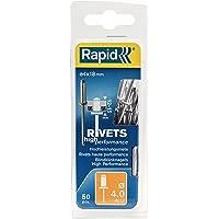 Rapid Blindklinknagels ALU Universal Ø 4 mm, 12-15 mm klembereik, 50 stk. klinknagels, set incl. boor, voor…