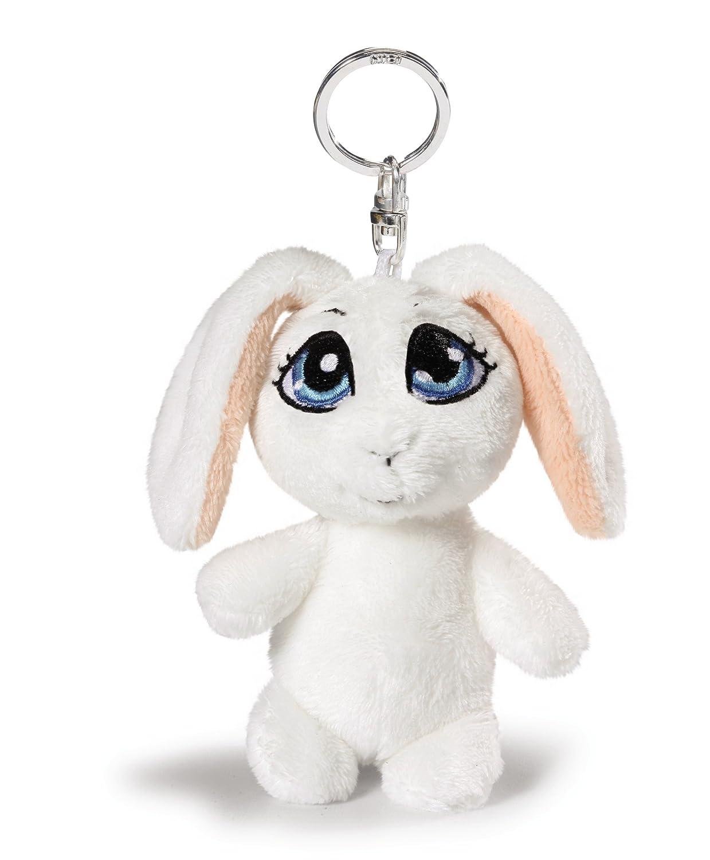 Nici 35647 - Portachiavi con Coniglio, 10 Cm, Colore: Bianco