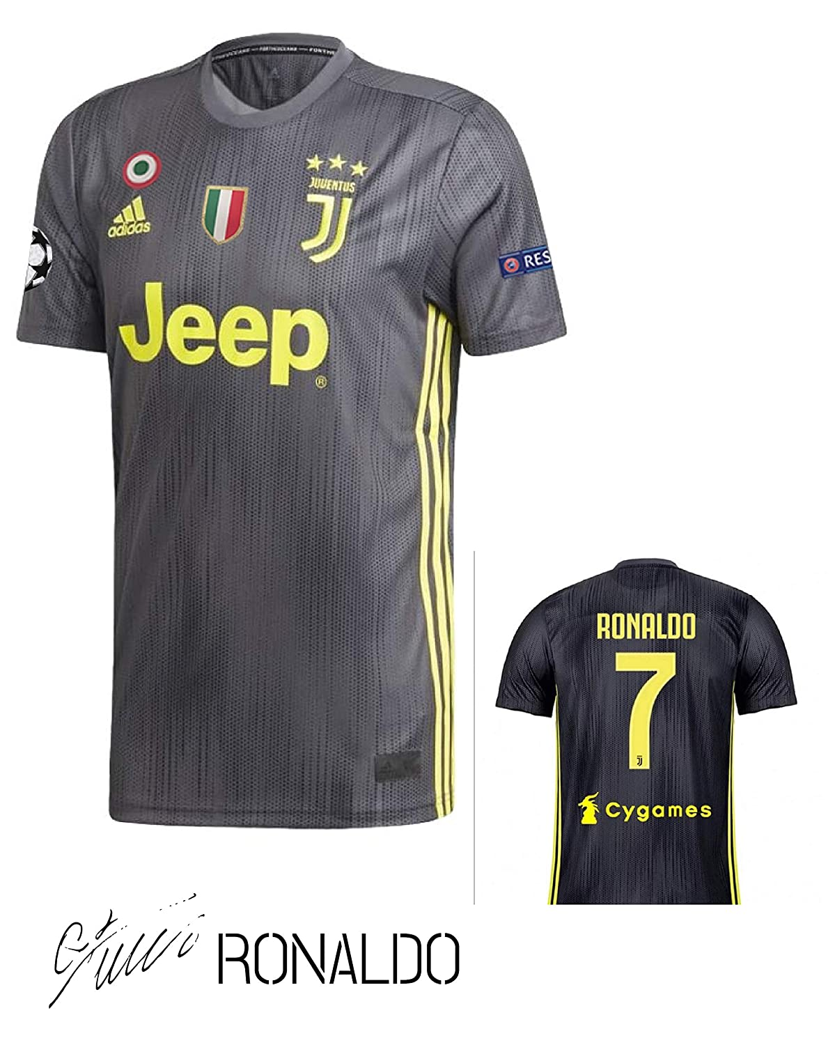 SporteCO Home Fan Soccer Jerseys for Men from Soccer European Teams Such as Juventus Ronaldo - PSG Neymar - Real Madrid Modric - Barcelona FC Messi