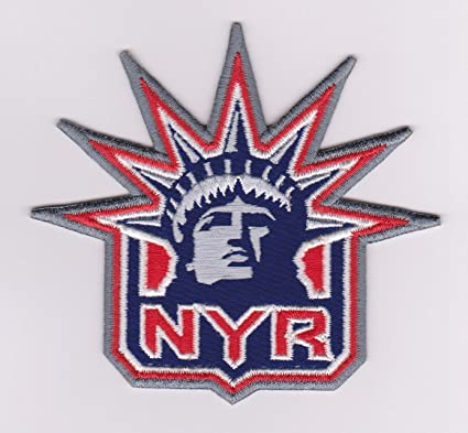 New York Rangers Statue Of Liberty Logo Nhl Iron On Jersey Emblem Patch Ny Amazon Ca Sports Outdoors