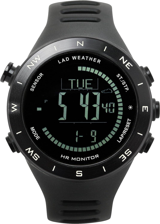 [LAD Weather] Altímetro de Sensor alemán Barómetro Digital Brújula Pronóstico Termómetro Multifuncional Relojes: Amazon.es: Relojes